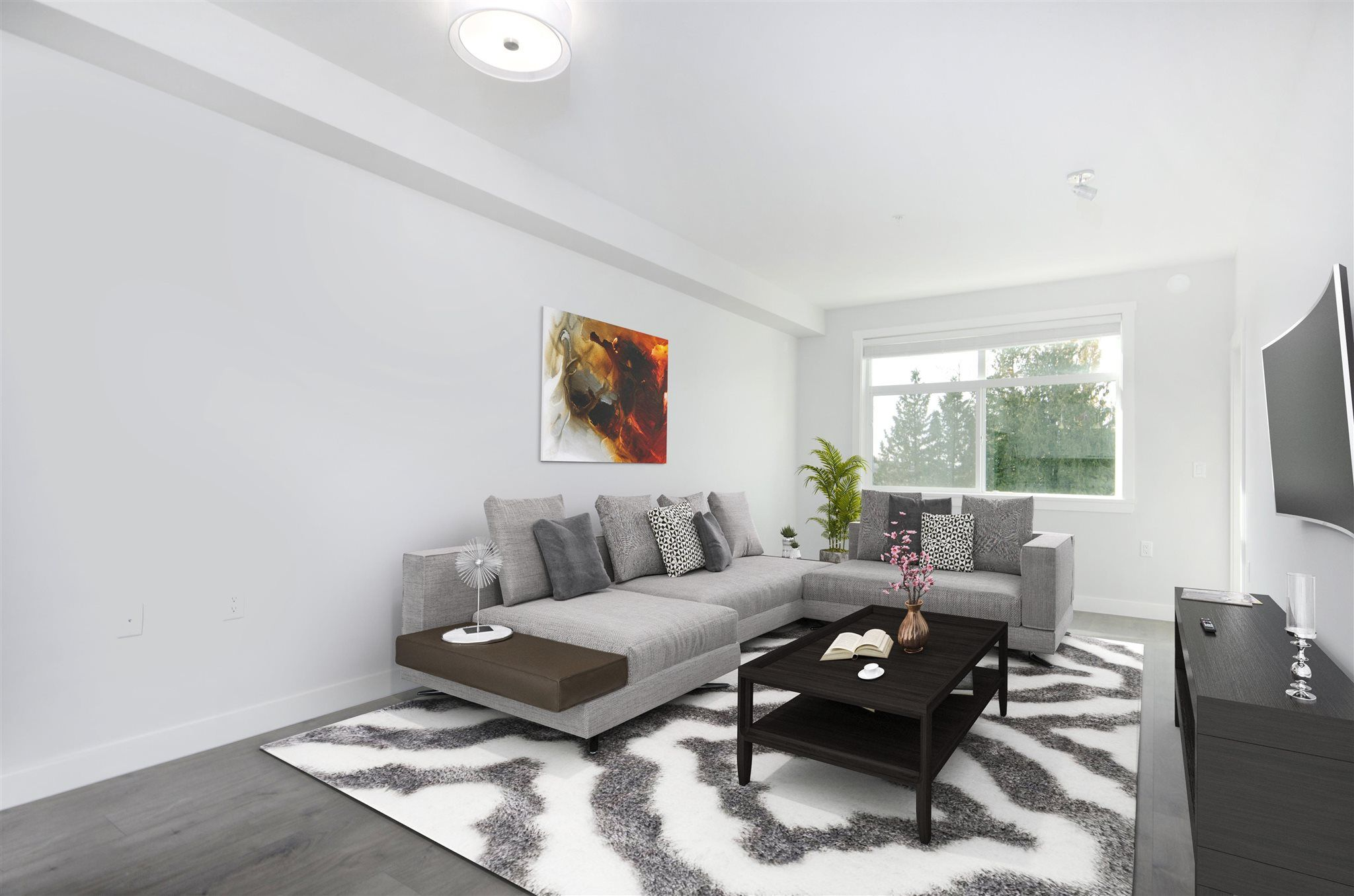 Digitially Staged Living Space
