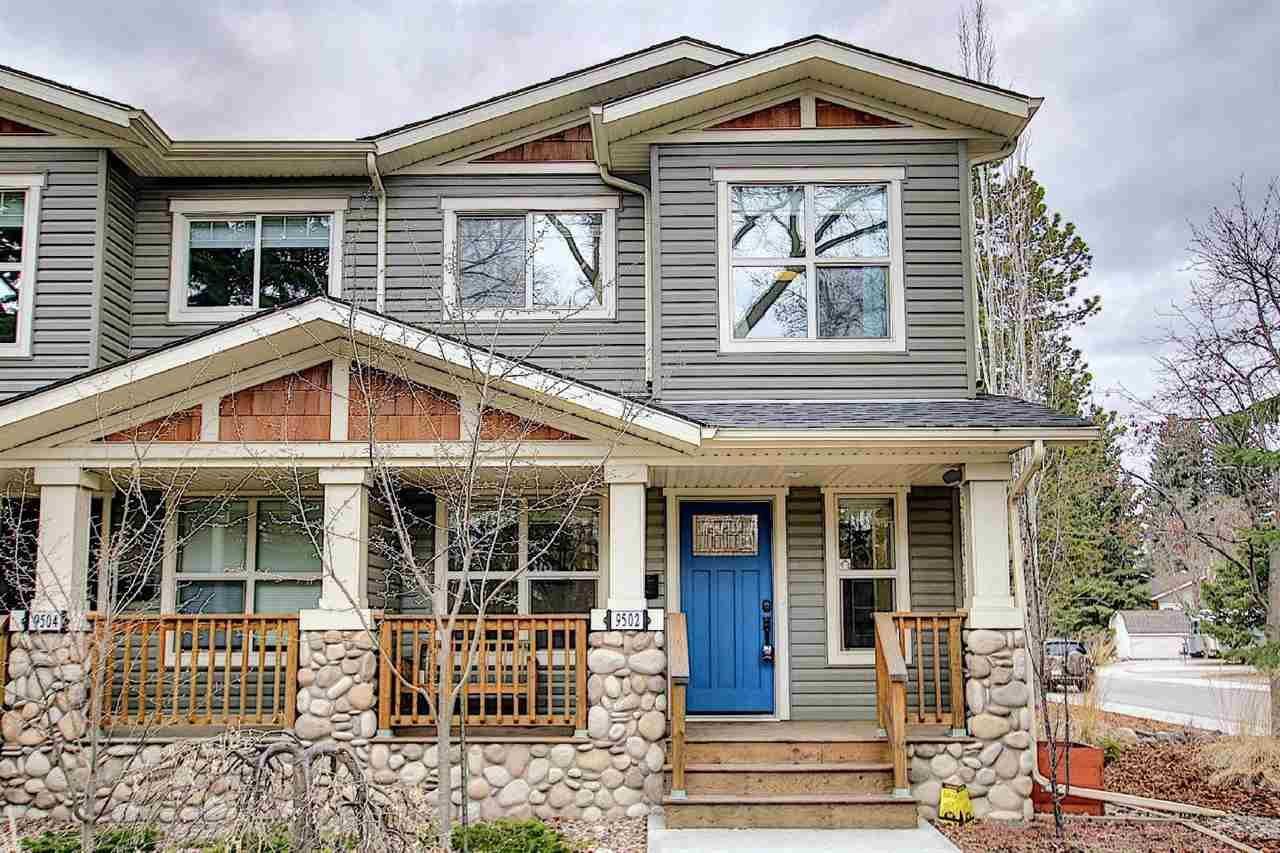 Main Photo: 9502 86 Avenue in Edmonton: Zone 18 House Half Duplex for sale : MLS®# E4241046