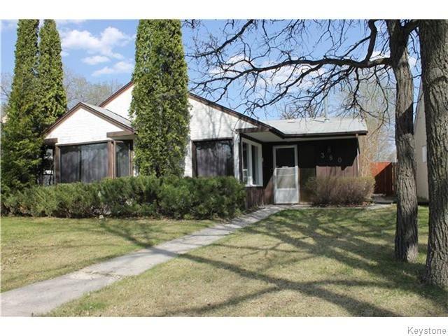 Main Photo: 380 Lanark Street in Winnipeg: River Heights / Tuxedo / Linden Woods Residential for sale (South Winnipeg)  : MLS®# 1611366