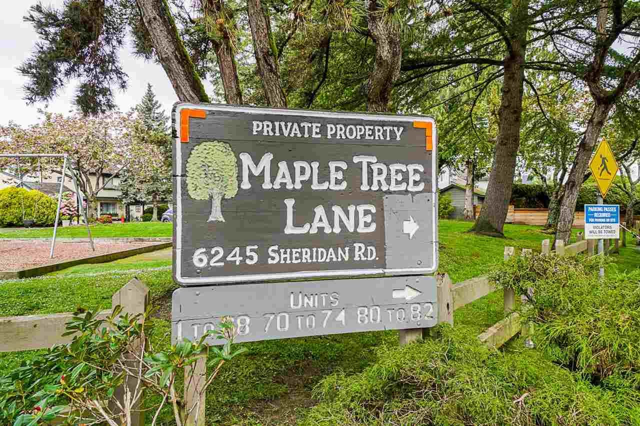 """Main Photo: 71 6245 SHERIDAN Road in Richmond: Woodwards Townhouse for sale in """"Maple Tree Lane"""" : MLS®# R2577465"""