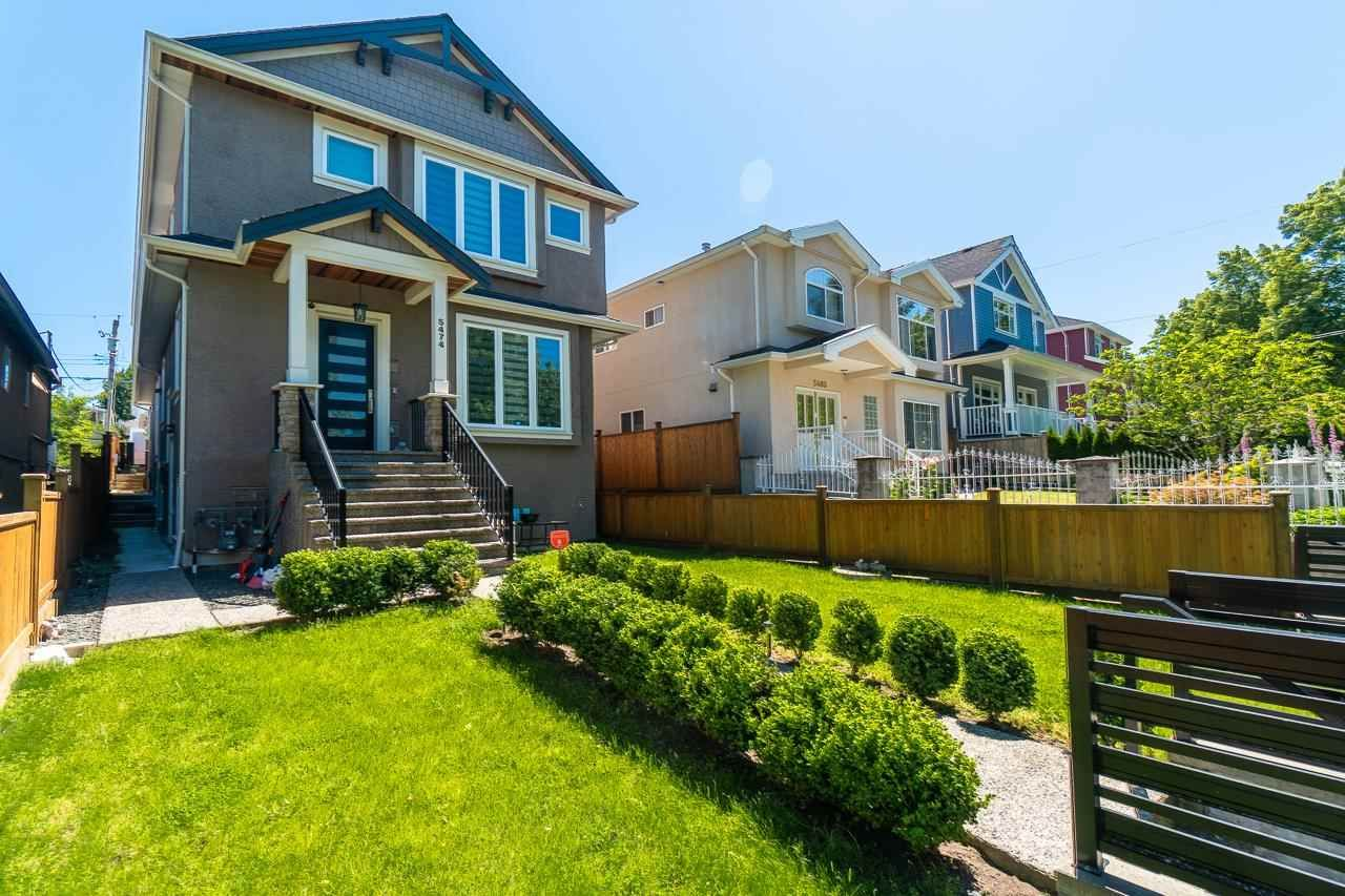 Main Photo: 5474 DUNDEE Street in Vancouver: Collingwood VE 1/2 Duplex for sale (Vancouver East)  : MLS®# R2587238