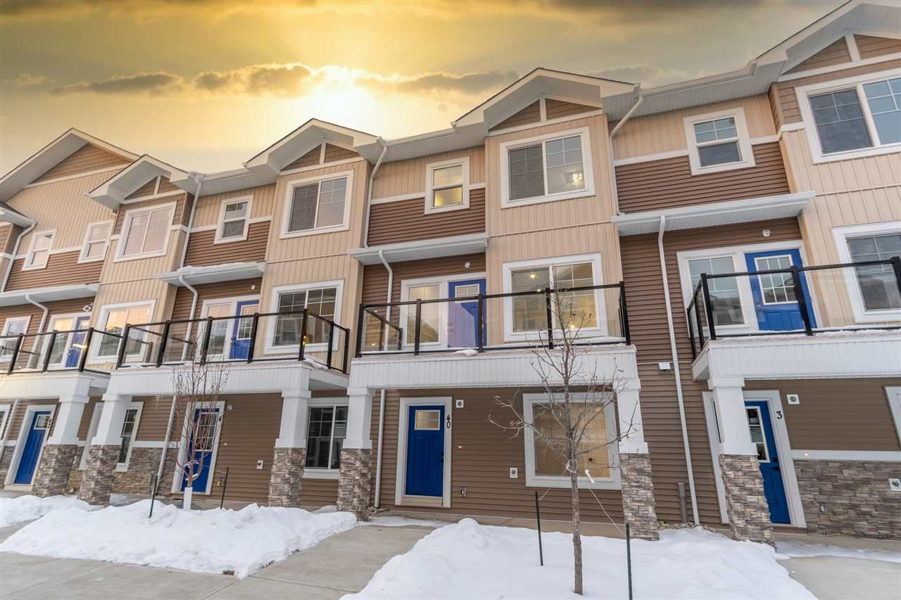 Main Photo: 40 230 Edgemont in Edmonton: Zone 57 Townhouse for sale : MLS®# E4222293