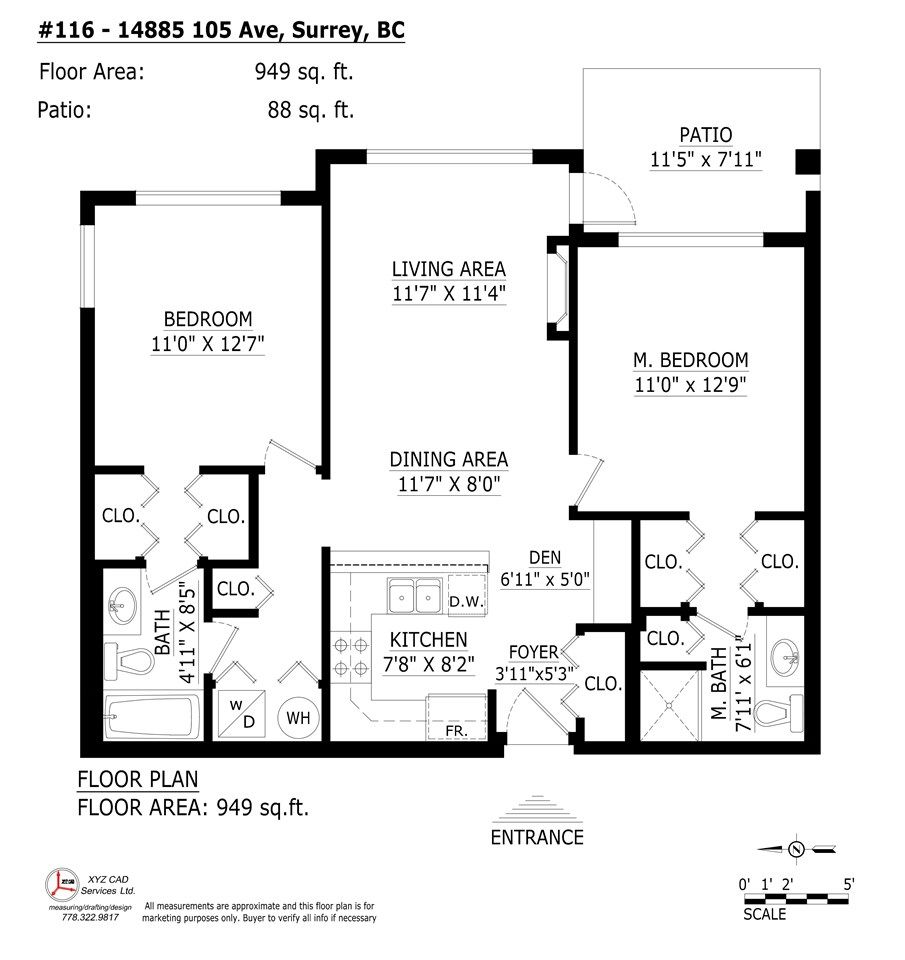 """Photo 8: Photos: 116 14885 105 Avenue in Surrey: Guildford Condo for sale in """"REVIVA"""" (North Surrey)  : MLS®# R2574705"""