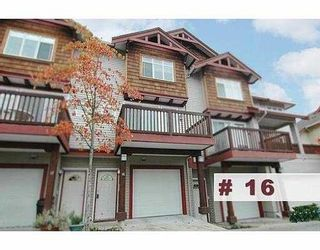 """Photo 1: 16 15 FOREST PARK Way in Port_Moody: Heritage Woods PM Townhouse for sale in """"DISCOVERY RIDGE"""" (Port Moody)  : MLS®# V676474"""