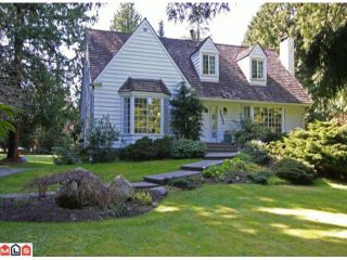 Photo 1: 3023 BALSAM CR in Surrey: Elgin Chantrell House for sale (South Surrey White Rock)  : MLS®# F1110533