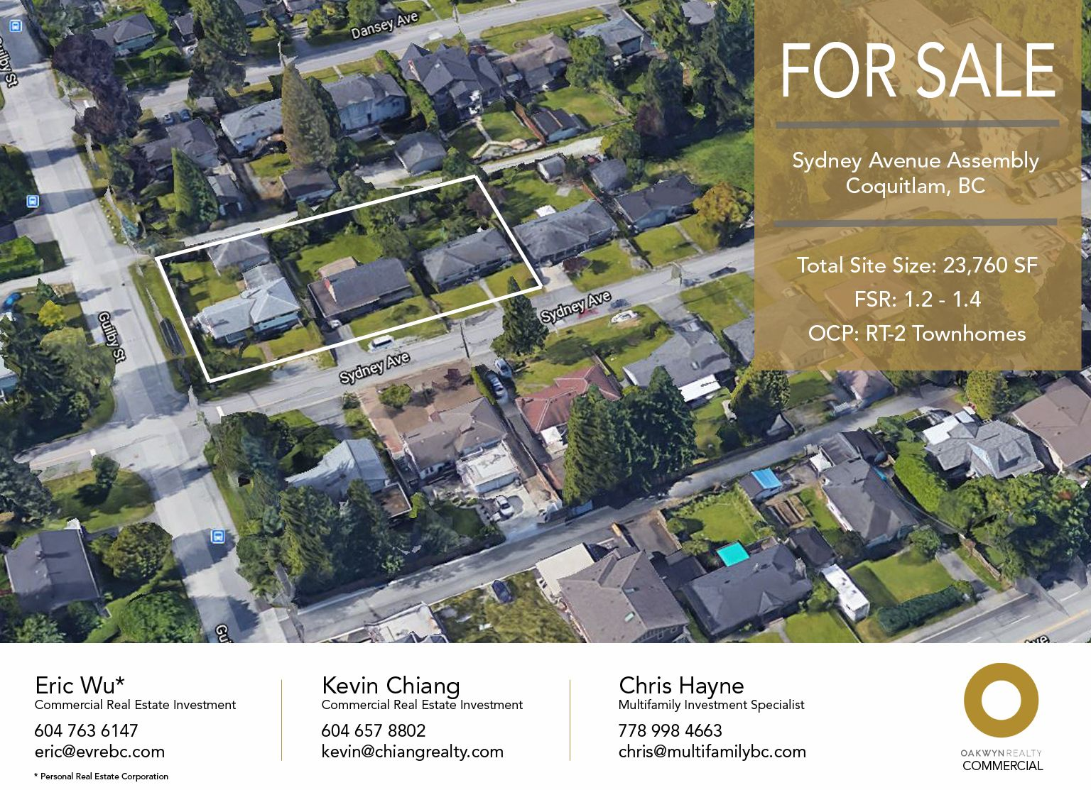 Main Photo: 604-608 Sydney Avenue in Coquitlam: Coquitlam West Land Commercial for sale