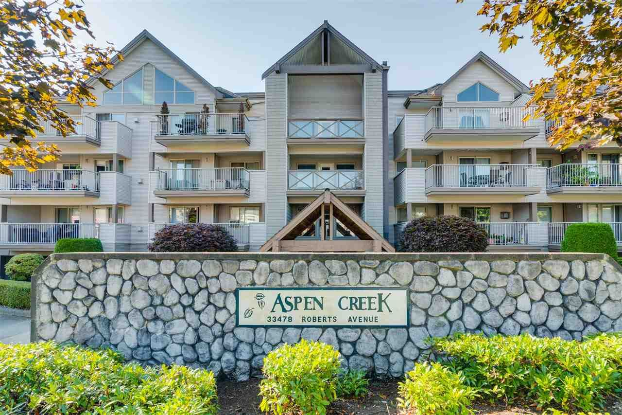 "Main Photo: 206 33478 ROBERTS Avenue in Abbotsford: Central Abbotsford Condo for sale in ""Aspen Creek"" : MLS®# R2403357"
