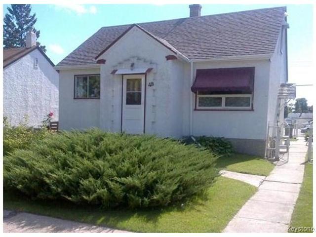 Main Photo: 48 Morier Avenue in WINNIPEG: St Vital Residential for sale (South East Winnipeg)  : MLS®# 1428085