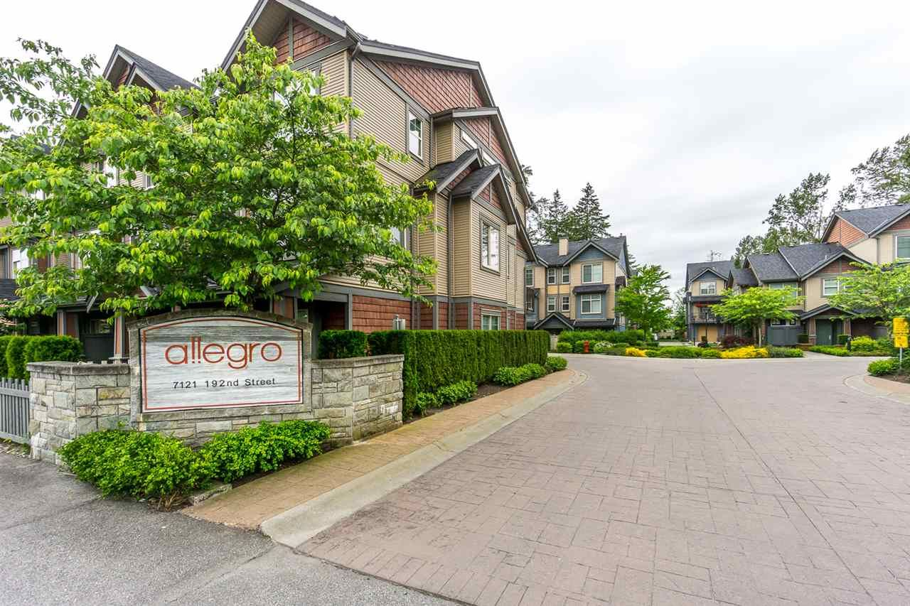 """Main Photo: 17 7121 192 Street in Surrey: Clayton Townhouse for sale in """"ALLEGRO"""" (Cloverdale)  : MLS®# R2173537"""