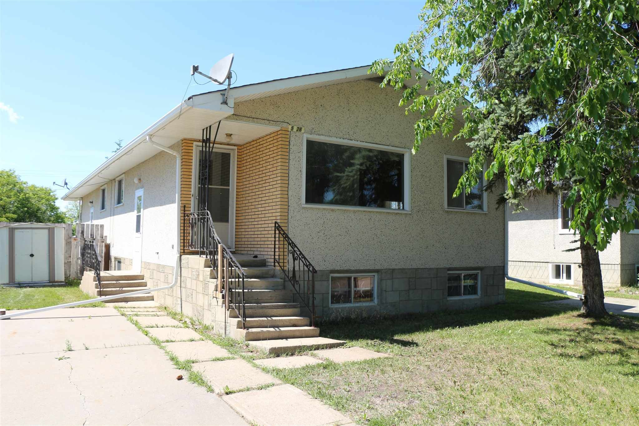 Main Photo: Unit A & B 5226 47 Street: Barrhead Duplex Front and Back for sale : MLS®# E4256795