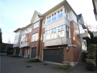 """Photo 1: 6618 ARBUTUS Street in Vancouver: S.W. Marine Townhouse for sale in """"BANNISTER MEWS"""" (Vancouver West)  : MLS®# V1096774"""