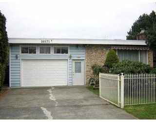 """Photo 1: 10971 DENNIS CR in Richmond: McNair House for sale in """"MCNAIR"""" : MLS®# V575863"""
