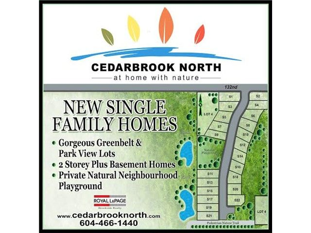"""Main Photo: 15 23810 132ND Avenue in Maple Ridge: North Maple Ridge House for sale in """"CEDARBROOK NORTH"""" : MLS®# V1121325"""