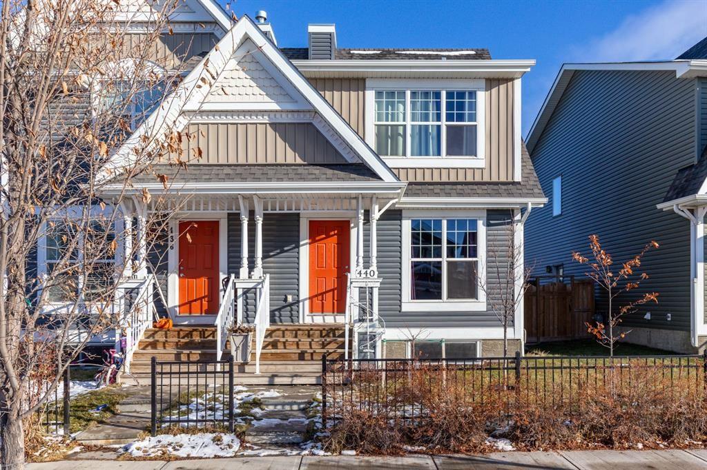 Main Photo: 440 Auburn Bay Avenue SE in Calgary: Auburn Bay Semi Detached for sale : MLS®# A1092990