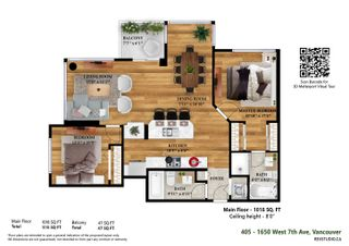 """Photo 6: 405 1650 W 7TH Avenue in Vancouver: Fairview VW Condo for sale in """"Virtu"""" (Vancouver West)  : MLS®# R2617360"""