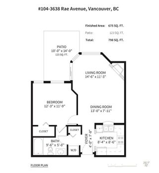 Photo 7: 104 3638 RAE Avenue in Vancouver: Collingwood VE Condo for sale (Vancouver East)  : MLS®# R2270440