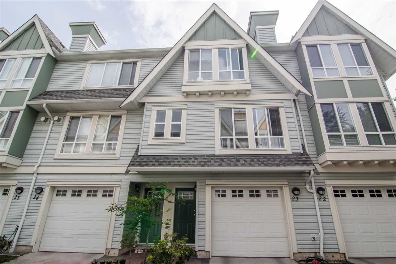 "Main Photo: 23 16388 85 Avenue in Surrey: Fleetwood Tynehead Townhouse for sale in ""CAMELOT VILLAGE"" : MLS®# R2465103"