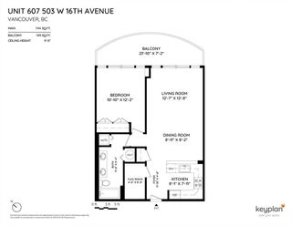Photo 19: 607 503 W 16TH Avenue in Vancouver: Fairview VW Condo for sale (Vancouver West)  : MLS®# R2398106