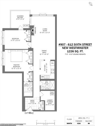 """Photo 2: 907 612 SIXTH Street in New Westminster: Uptown NW Condo for sale in """"The Woodward"""" : MLS®# R2505938"""