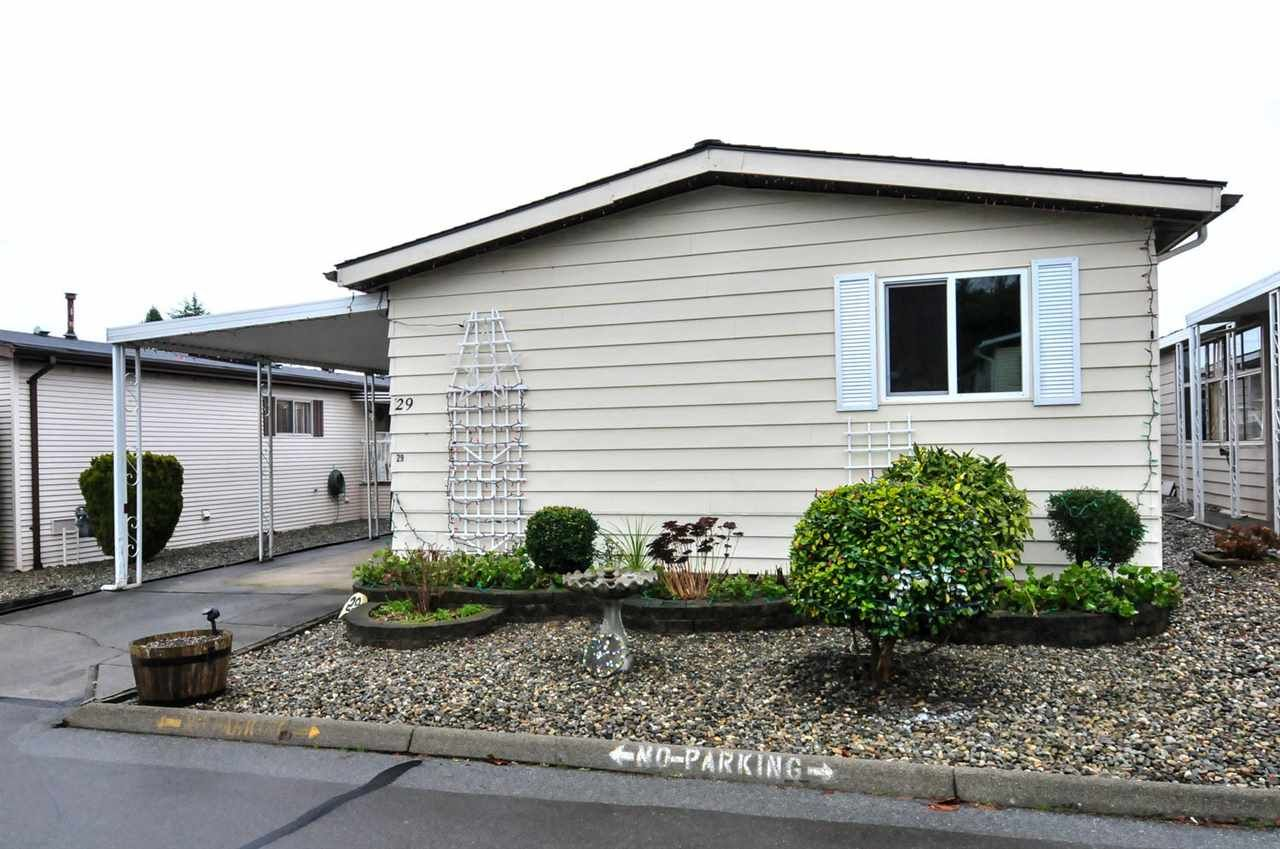 "Main Photo: 29 1640 162 Street in Surrey: King George Corridor Manufactured Home for sale in ""Cherry Brook Park"" (South Surrey White Rock)  : MLS®# R2038410"