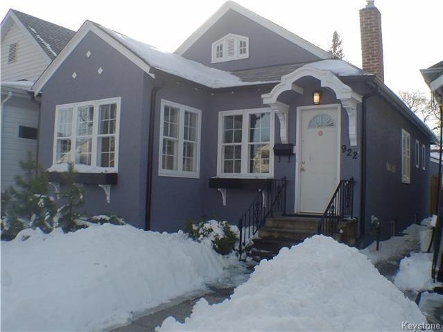 Main Photo: 922 Ingersoll Street in Winnipeg: House for sale (West End)  : MLS®# 1805274