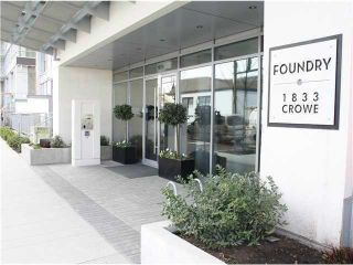 "Photo 2: # 1005 1833 CROWE ST in Vancouver: False Creek Condo for sale in ""FOUNDRY"" (Vancouver West)  : MLS®# V1042655"