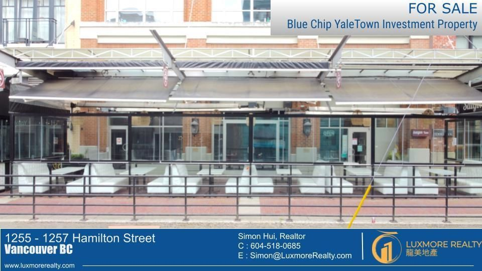Main Photo: 1255 - 1257 HAMILTON Street in Vancouver: Yaletown Retail for sale (Vancouver West)  : MLS®# C8039151