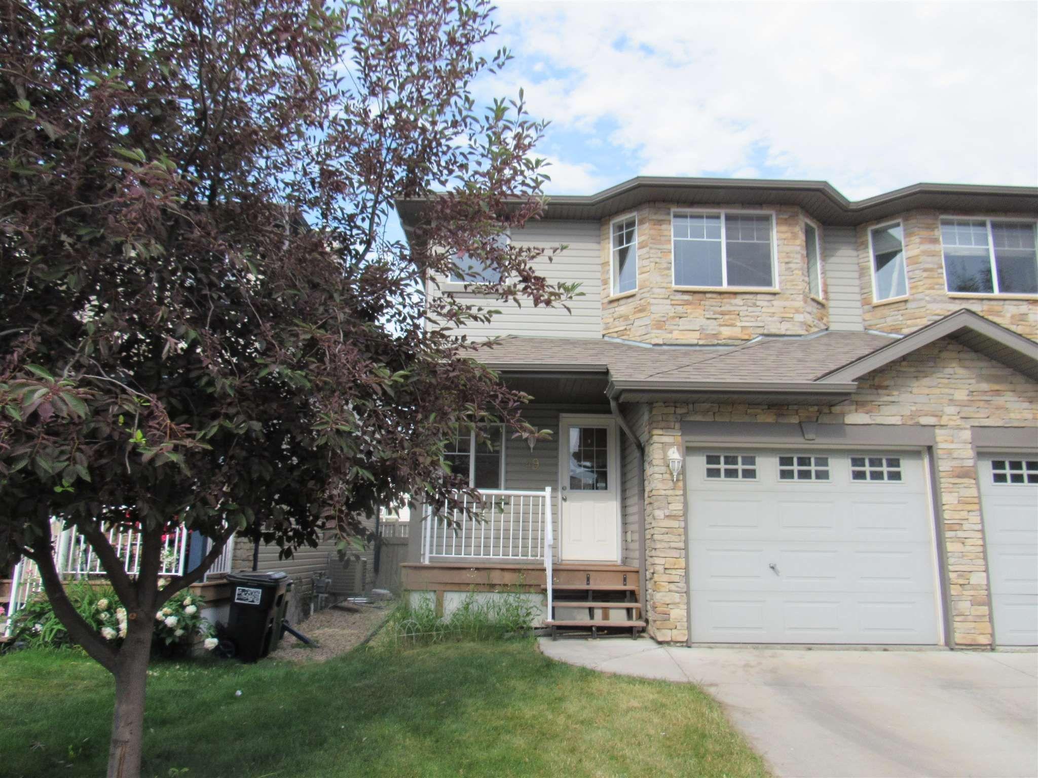 Main Photo: 49 6304 SANDIN Way in Edmonton: Zone 14 House Half Duplex for sale : MLS®# E4252566