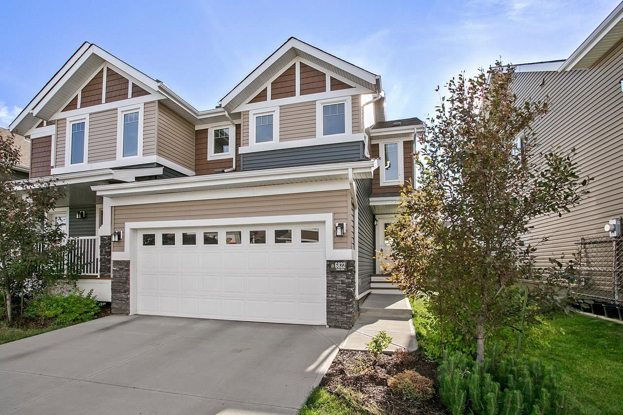 Main Photo: 6822 EVANS Wynd in Edmonton: Zone 57 House Half Duplex for sale : MLS®# E4262515