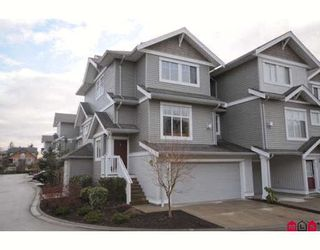 """Photo 1: 39 16760 61ST Avenue in Surrey: Cloverdale BC Townhouse for sale in """"HARVEST LANDING"""" (Cloverdale)  : MLS®# F2903413"""