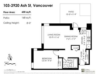 """Photo 12: 103 2920 ASH Street in Vancouver: Fairview VW Condo for sale in """"Ash Court"""" (Vancouver West)  : MLS®# R2226692"""