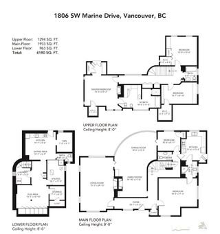 Photo 28: 1806 SW MARINE DRIVE in Vancouver: Southlands House for sale (Vancouver West)  : MLS®# R2464800