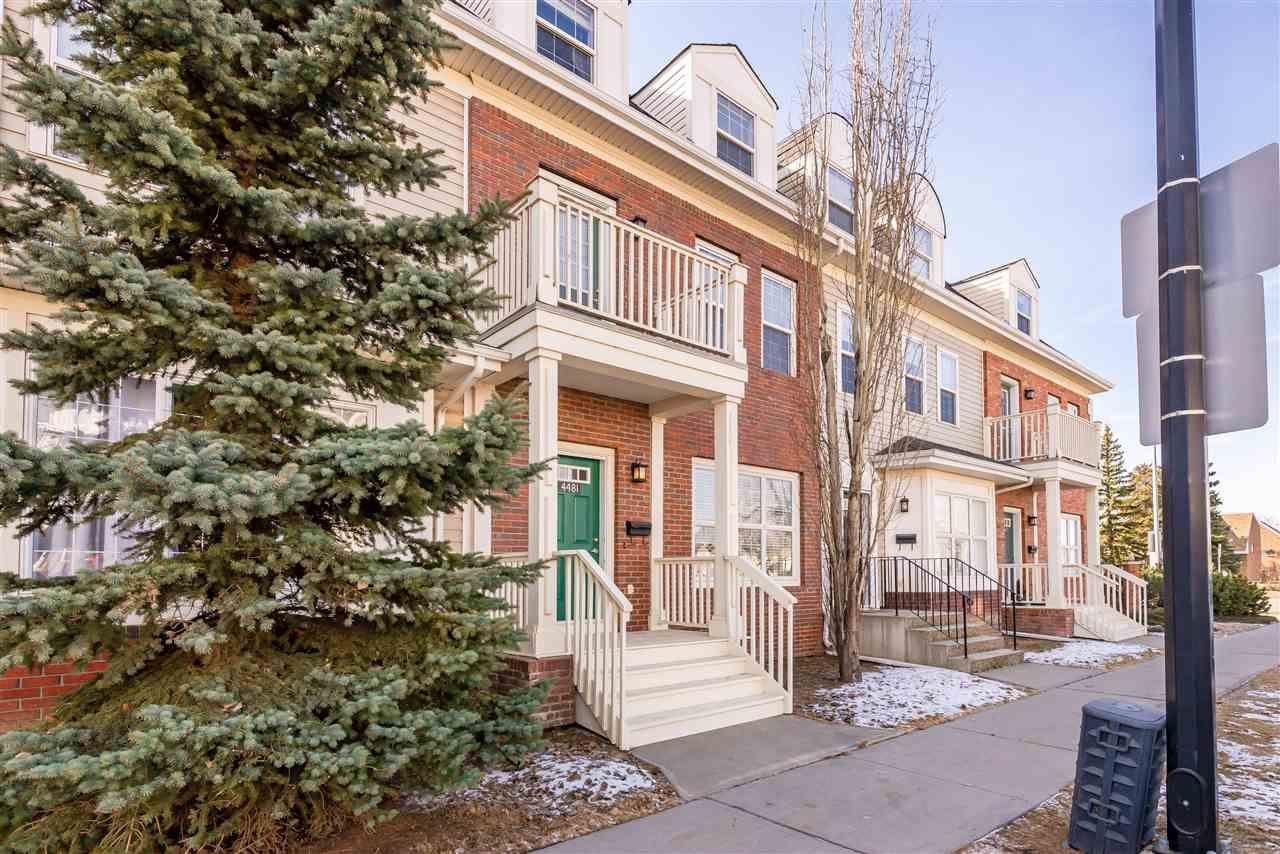 Main Photo: 4481 McCrae Avenue in Edmonton: Zone 27 Townhouse for sale : MLS®# E4234457