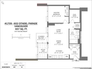 "Photo 21: 1709 602 CITADEL Parade in Vancouver: Downtown VW Condo for sale in ""Spectrum 4"" (Vancouver West)  : MLS®# R2565583"