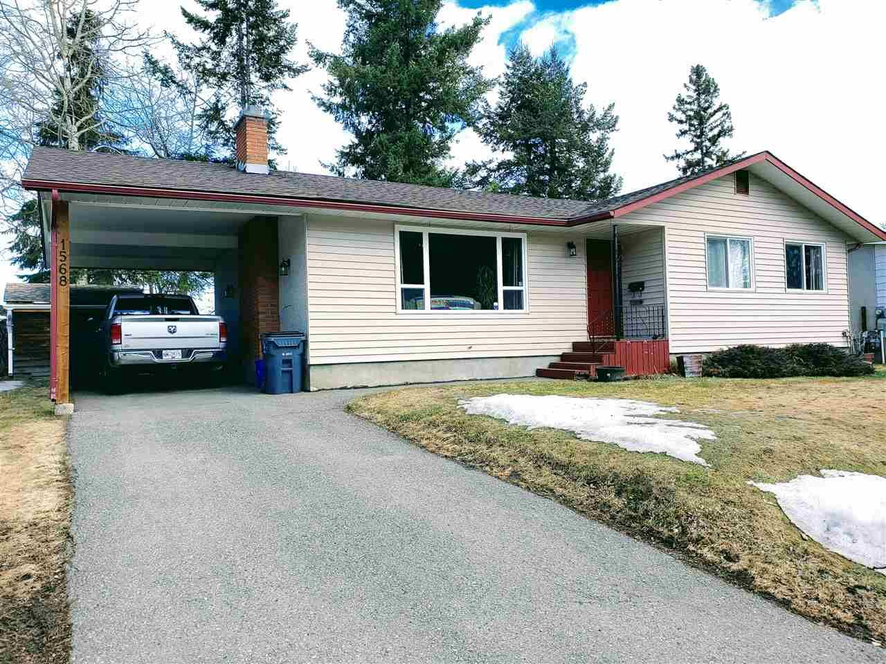 Main Photo: 1568 PEARSON Avenue in Prince George: Assman House for sale (PG City Central (Zone 72))  : MLS®# R2554696