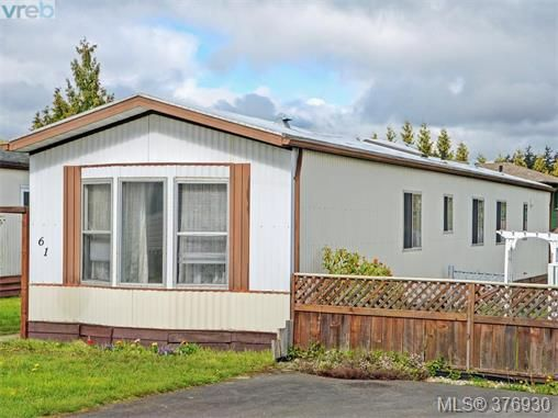 Main Photo: 61 1555 Middle Rd in VICTORIA: VR Glentana Manufactured Home for sale (View Royal)  : MLS®# 756727
