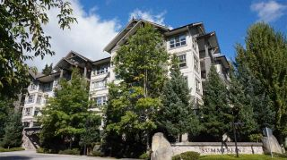 """Photo 1: 407 2958 WHISPER Way in Coquitlam: Westwood Plateau Condo for sale in """"SUMMERLIN AT SILVER SPRINGS"""" : MLS®# R2210046"""
