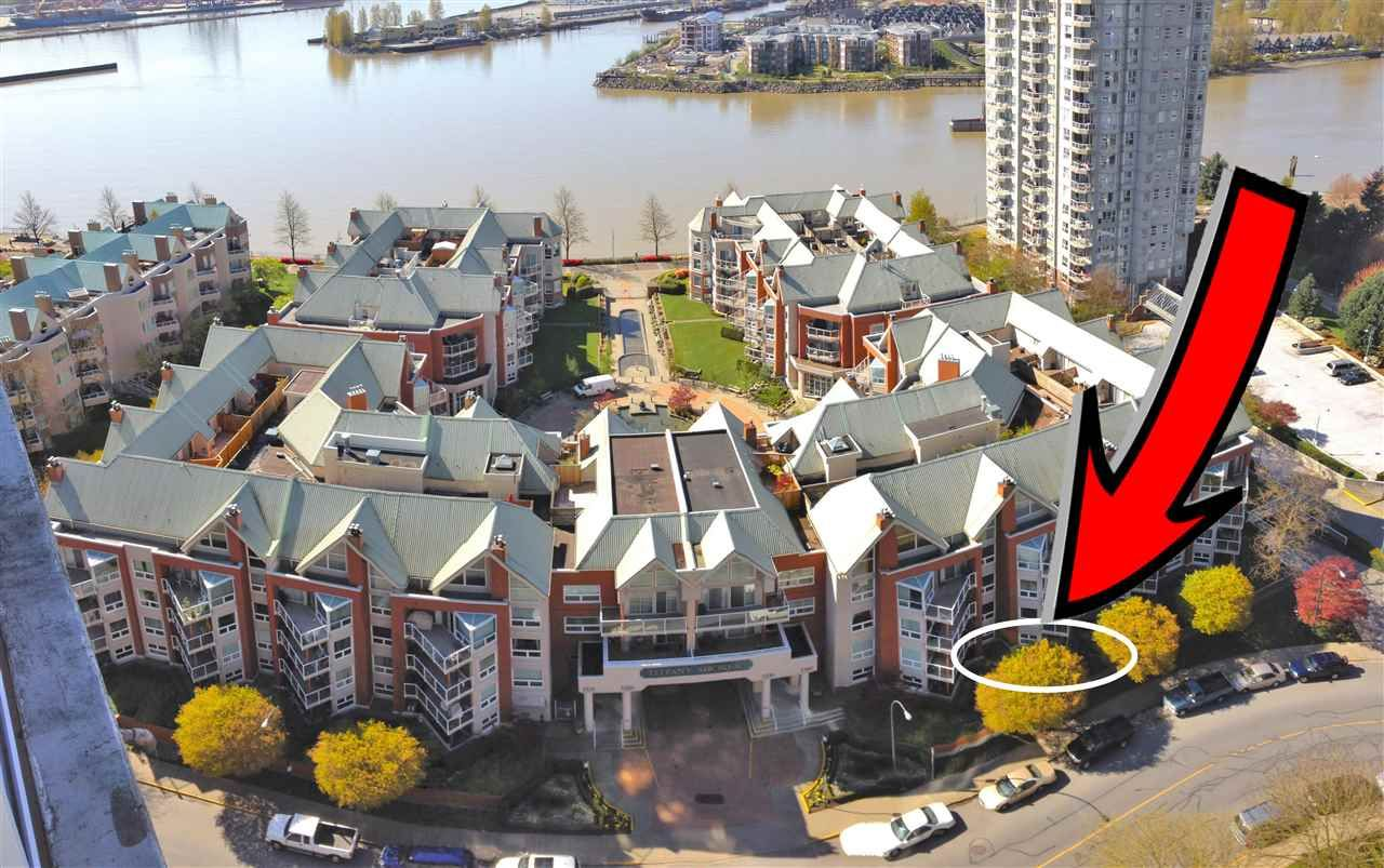 """Main Photo: 102 1240 QUAYSIDE Drive in New Westminster: Quay Condo for sale in """"TIFFANY SHORES"""" : MLS®# R2263673"""