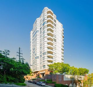 """Photo 1: 703 328 CLARKSON Street in New Westminster: Downtown NW Condo for sale in """"Highbourne Tower"""" : MLS®# R2585007"""