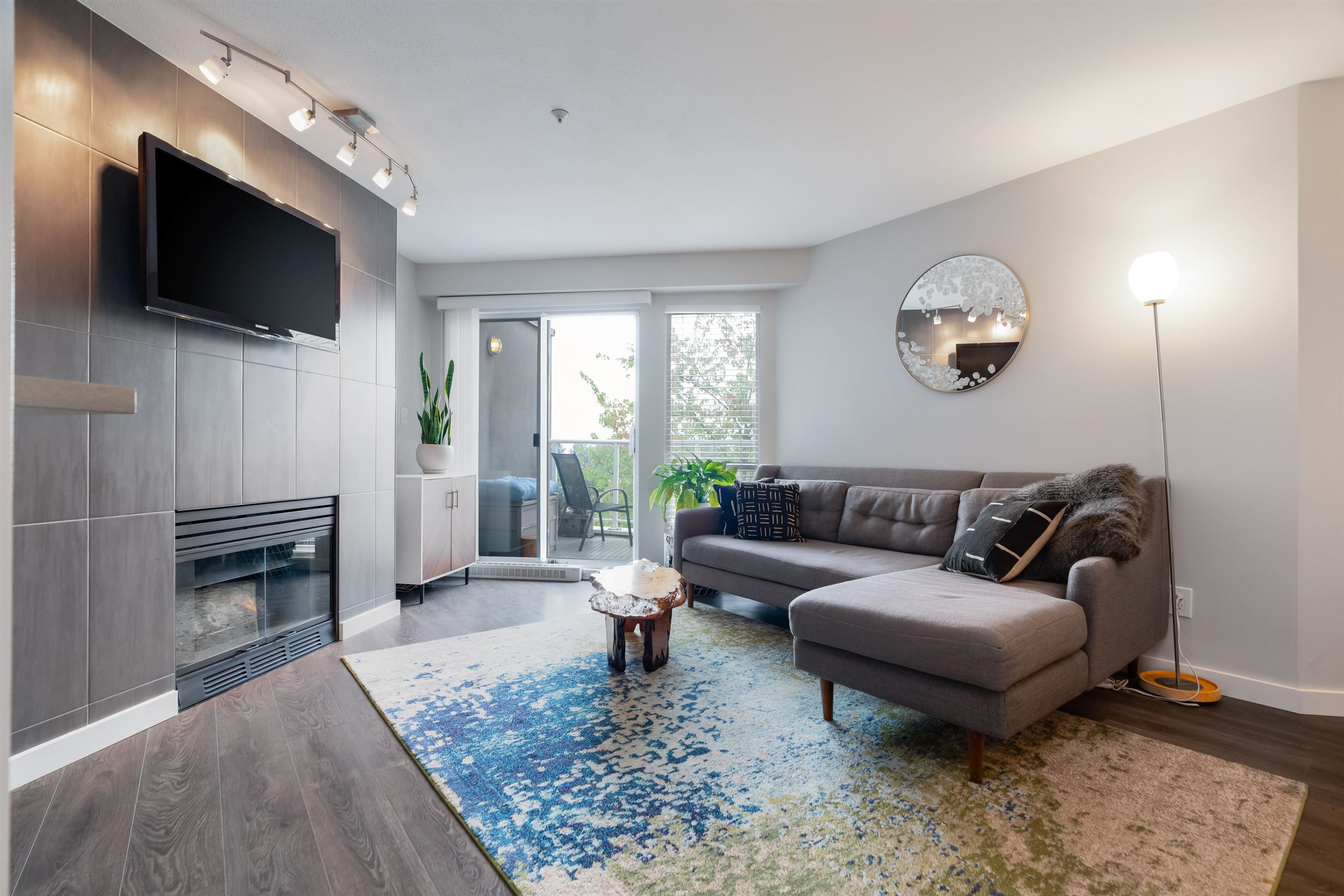 """Main Photo: 408 8430 JELLICOE Street in Vancouver: South Marine Condo for sale in """"Boardwalk"""" (Vancouver East)  : MLS®# R2620005"""