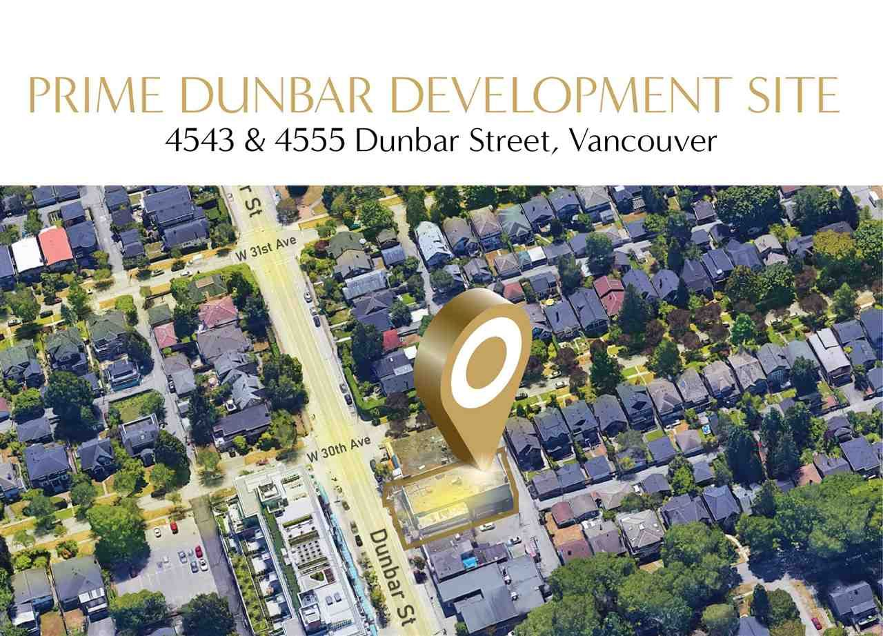 Main Photo: 4543 & 4555 DUNBAR Street in Vancouver: Dunbar Land Commercial for sale (Vancouver West)  : MLS®# C8038754