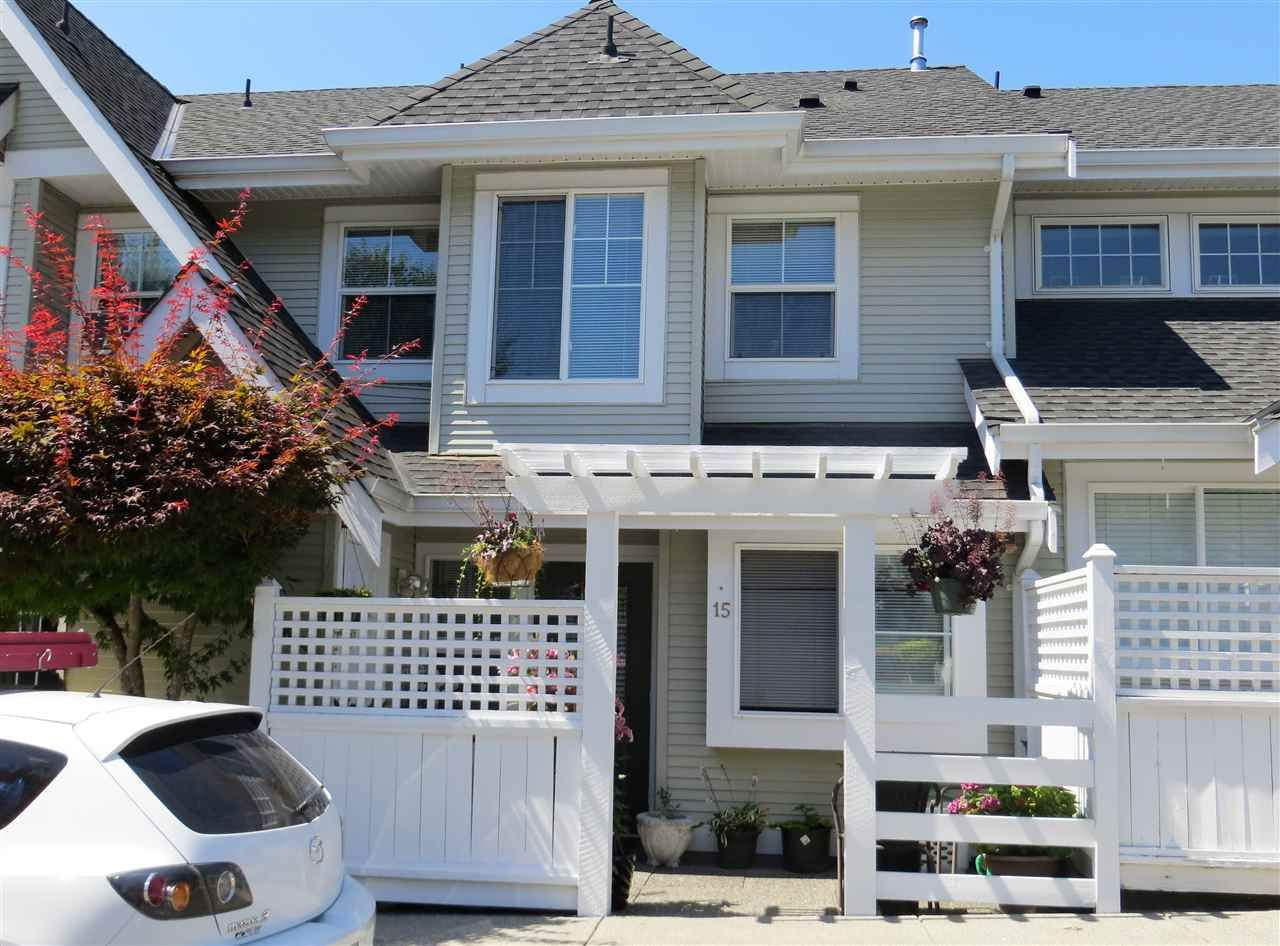 """Main Photo: 15 23560 119 Avenue in Maple Ridge: Cottonwood MR Townhouse for sale in """"HOLLYHOCK"""" : MLS®# R2097697"""