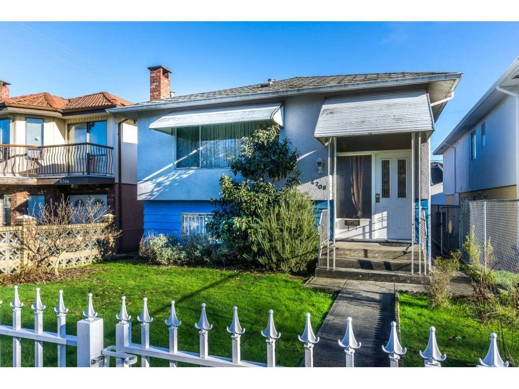 Main Photo: 4708 BRUCE Street in Vancouver: Victoria VE House for sale (Vancouver East)  : MLS®# R2126089