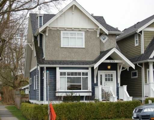 Main Photo: 599 W 20TH Ave in Vancouver: Cambie House for sale (Vancouver West)  : MLS®# V634796