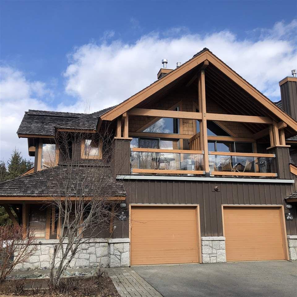 "Main Photo: 4841 CASABELLA Crescent in Whistler: Whistler Village Townhouse for sale in ""Whistler Village"" : MLS®# R2558863"