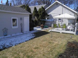 Photo 16: 1087 Downing Street in WINNIPEG: West End / Wolseley Residential for sale (West Winnipeg)  : MLS®# 1507817