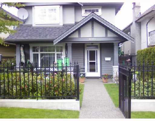 Main Photo: 4331 ALBERT Street in Burnaby: Vancouver Heights 1/2 Duplex for sale (Burnaby North)  : MLS®# V714565