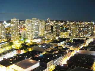 """Photo 1: 3007 939 HOMER Street in Vancouver: Downtown VW Condo for sale in """"THE PINNACLE"""" (Vancouver West)  : MLS®# V873938"""