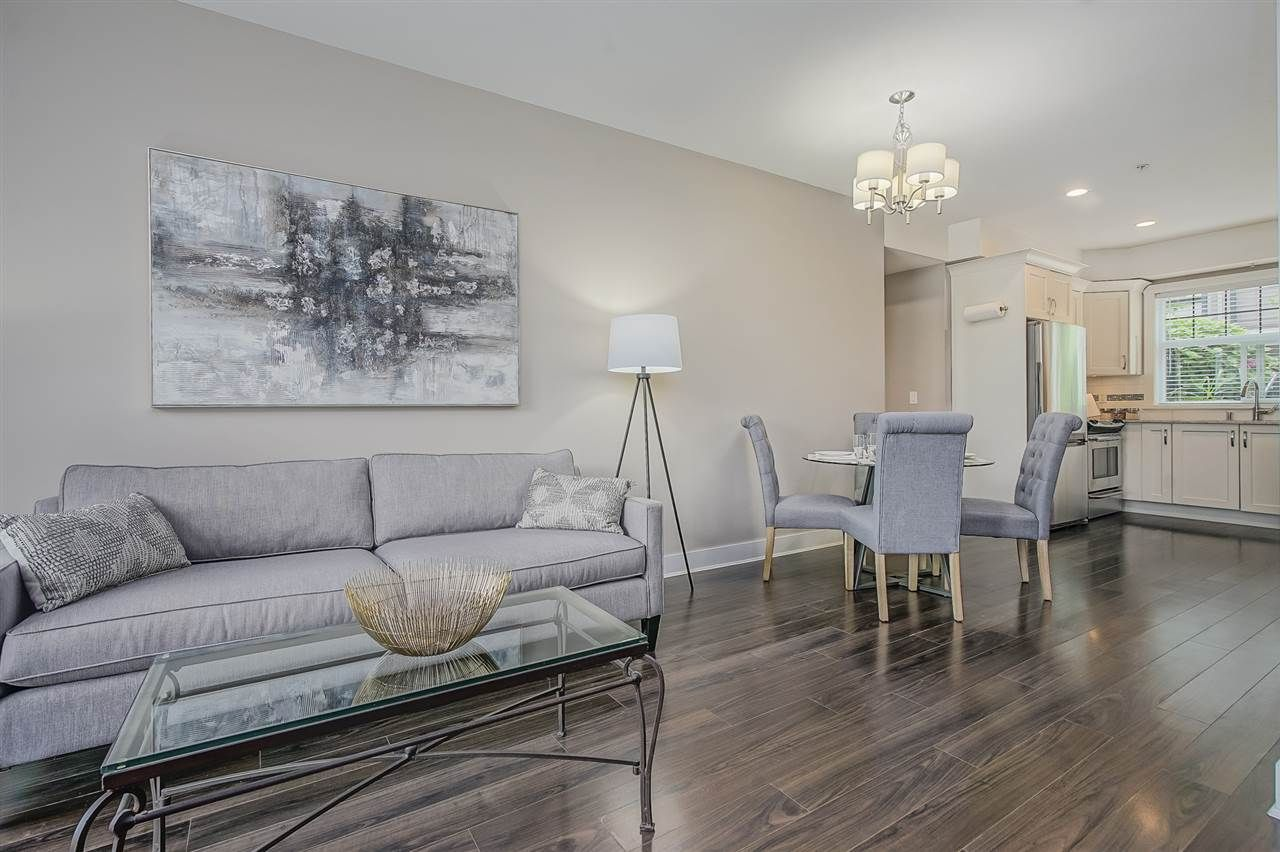 """Main Photo: 203 828 ROYAL Avenue in New Westminster: Downtown NW Townhouse for sale in """"Brickstone Walk"""" : MLS®# R2388112"""