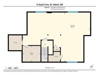 Photo 44: 13 Nault Crescent: St. Albert House for sale : MLS®# E4240945